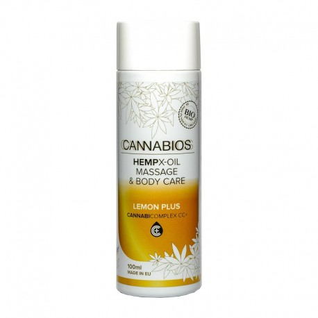Cannabios Aceite masaje X-Oil Lemon Plus