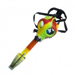 Bong Mascara de Gas Multicolor 24.5 cm