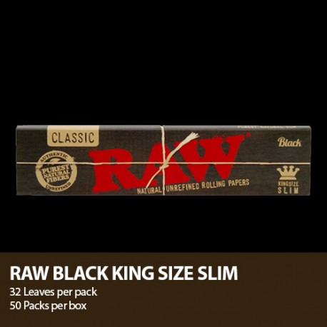Papel Raw Black King Size
