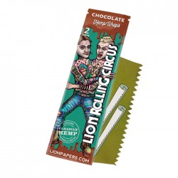 Lion Rolling Circus Hemp Wraps Chocolate